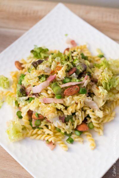 Salade de pates aux asperges | Cahier de gourmandises