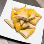 Samoussa aux carottes, noisettes et fromage frais