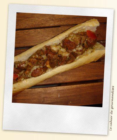 Sandwich boeuf-cèpes