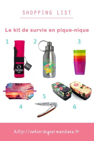 Le kit de survie en pique-nique [+Concours]