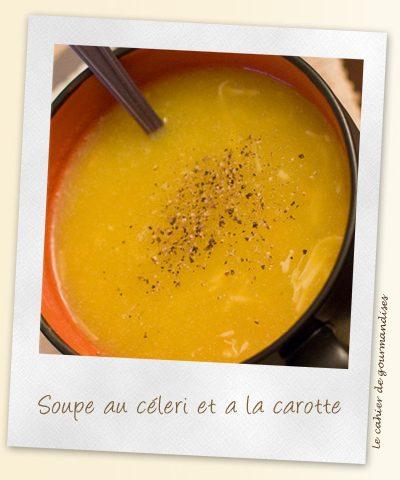 Soupe au céléri et carottes