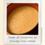 Soupe de courgettes au fromage ail et fines herbes