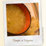 Soupe à l'oignon et tartines gratinées
