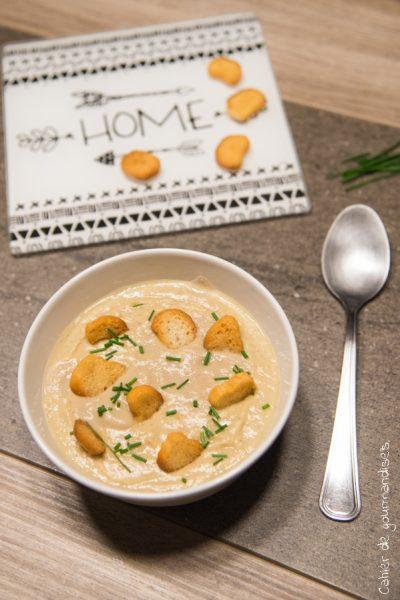 Soupe poireau & chou romanesco
