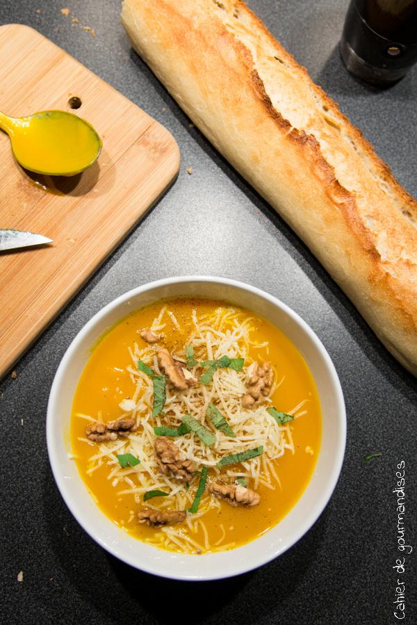 Soupe de potimarron | Cahier de gourmandises