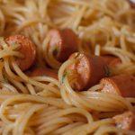 Spaguettis funny aux saucisses