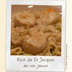 Noix de Saint Jacques au vin jaune