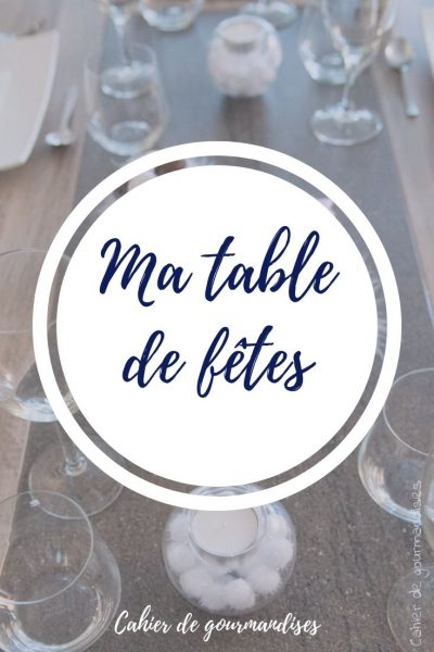 Ma table de fêtes