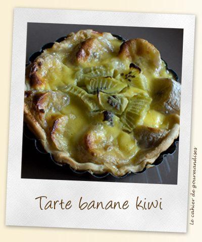 Tarte kiwi banane