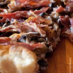 Tarte champignons et pancetta