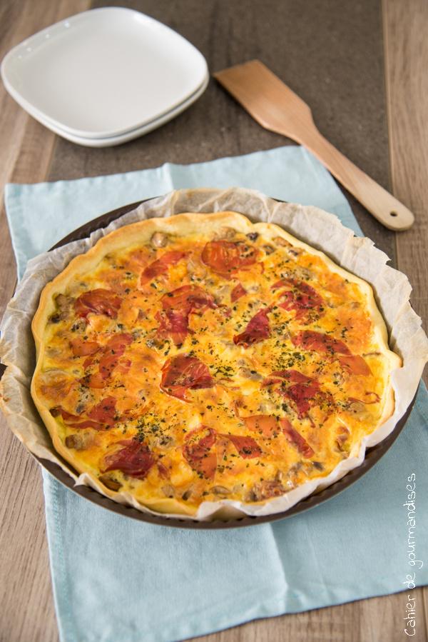 Tarte Raclette Champignons | Cahier de gourmandises
