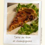 Tarte champignons, oignons et thon