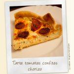 Tarte tomates confites chorizo