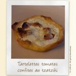 Tartelettes aux tomates confites sauce tzatziki