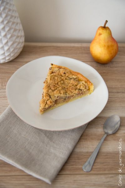 Tarte crumble poires vanille | Cahier de gourmandises