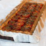 Tarte fine aux tomates cerises & échalotes