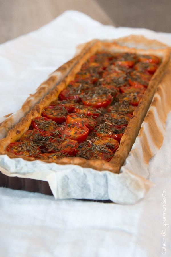Tarte fine tomates echalotes | Cahier de gourmandises