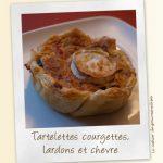Tartelettes aux courgettes, tomate et lardons