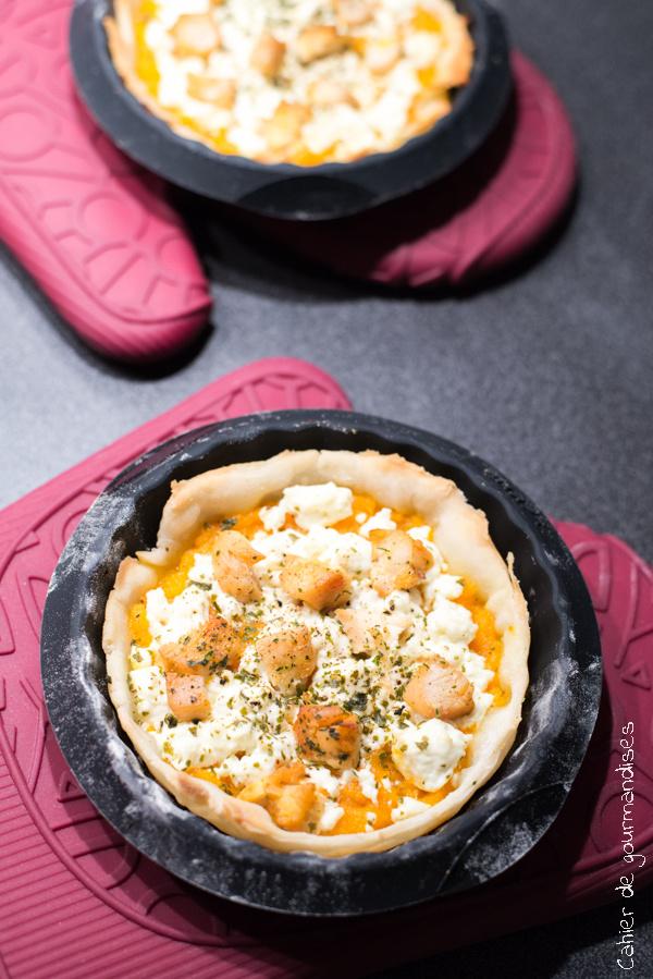 Tartelettes poulet carottes feta | Cahier de gourmandises