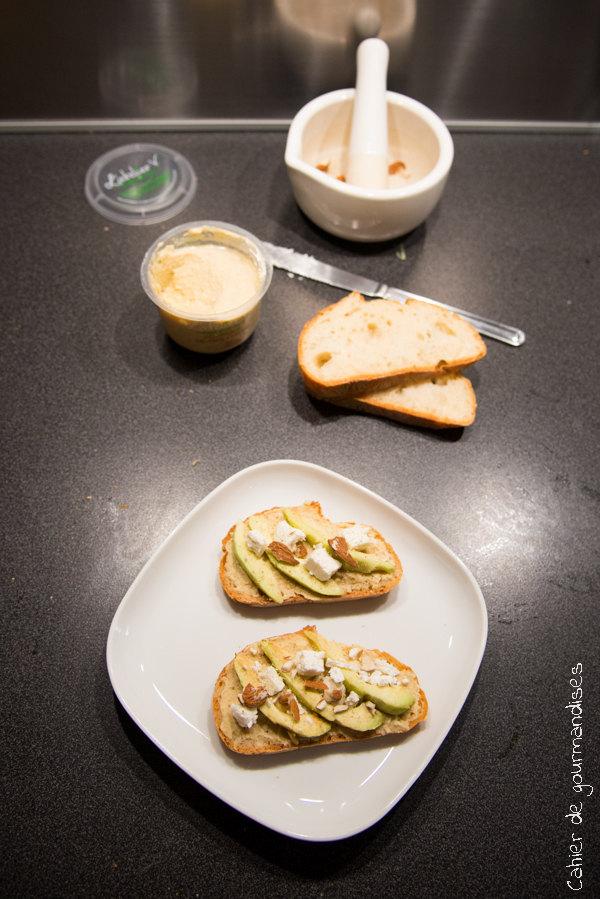 Tartines hoummous avocat feta | Cahier de gourmandises