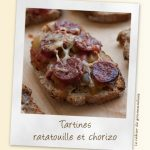 Bruschetta ratatouille et chorizo