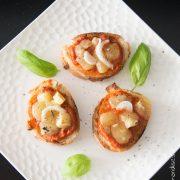 Tartines Tomates Oignons Tomme   Cahier de gourmandises