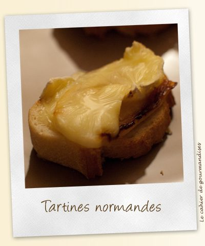 Tartines normandes au camenbert