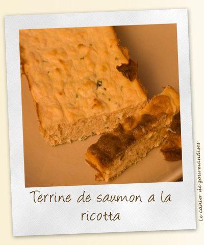 Terrine de saumon & ricotta