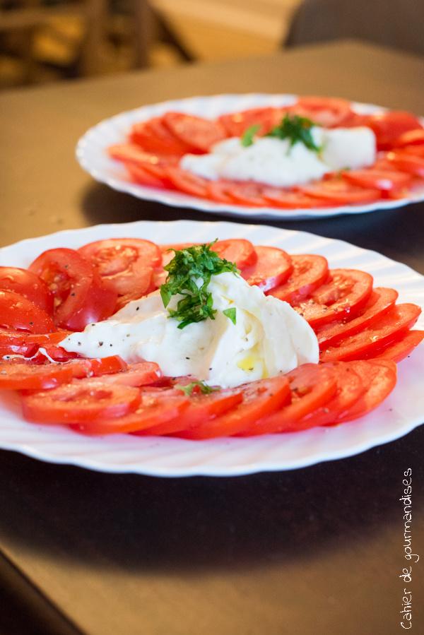 Tomates Burrata | Cahier de gourmandises