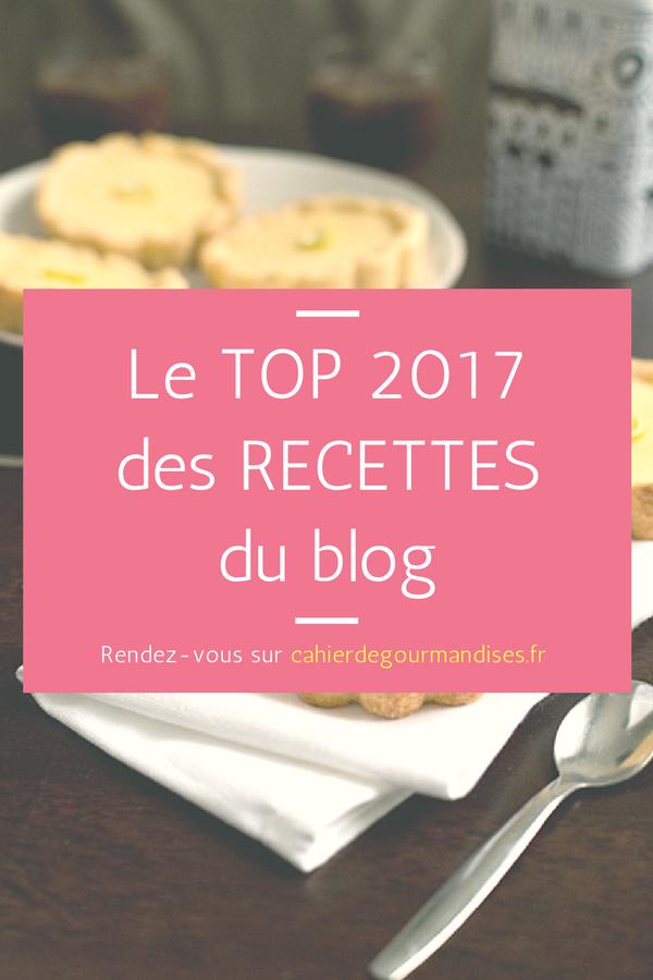 Le TOP 2017 de mes recettes