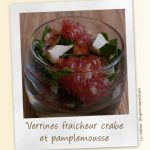 Verrines crabes pamplemousse