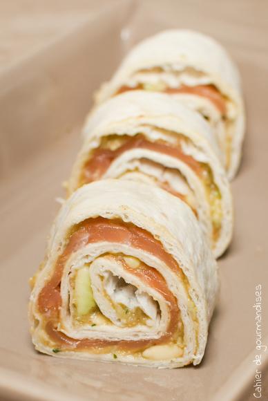 Wraps guacamole & saumon