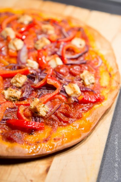 Pizza poulet & poivrons | Cahier de gourmandises